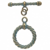 Toggle - Fancy Twisted 24x25.5mm Patina Finish